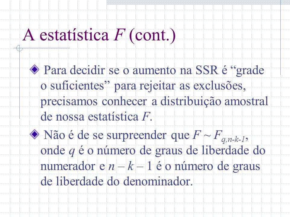 A estatística F (cont.)