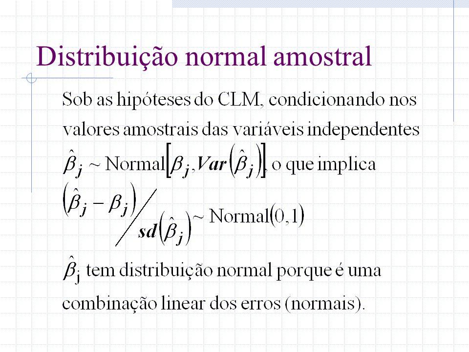 Distribuição normal amostral