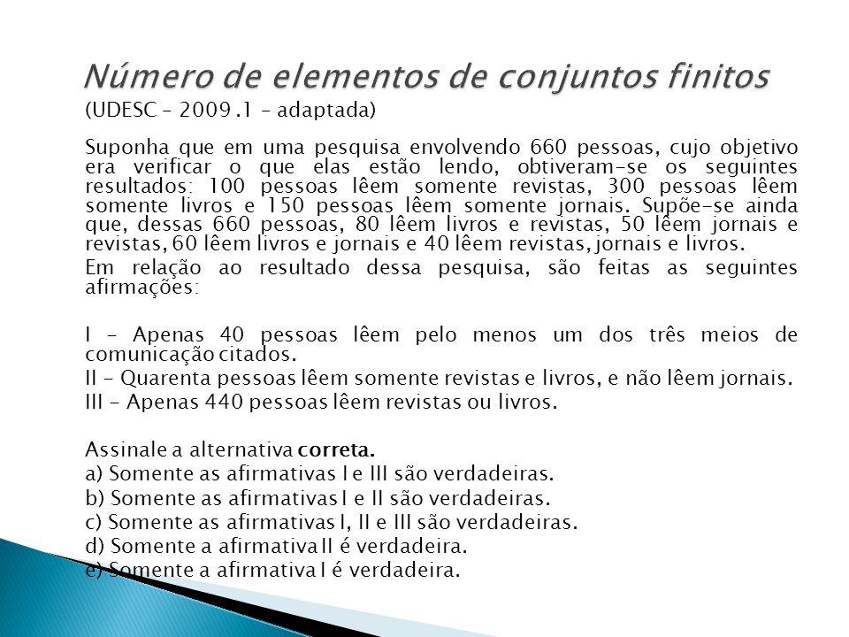 Número de elementos de conjuntos finitos