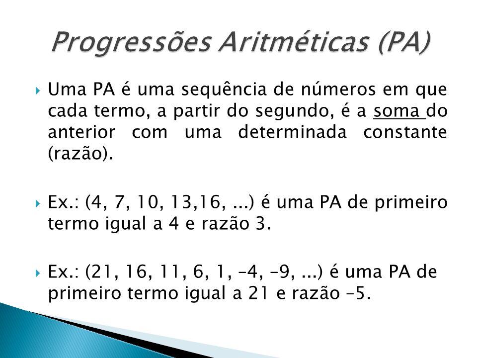 Progressões Aritméticas (PA)