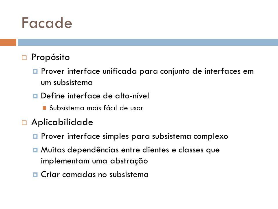 Facade Propósito Aplicabilidade