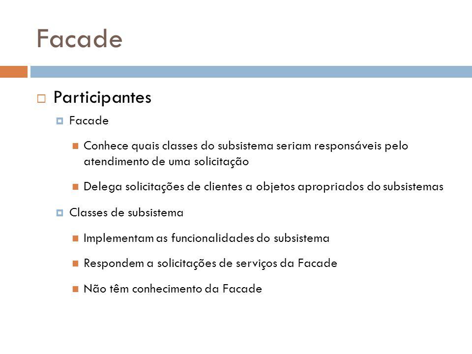 Facade Participantes Facade
