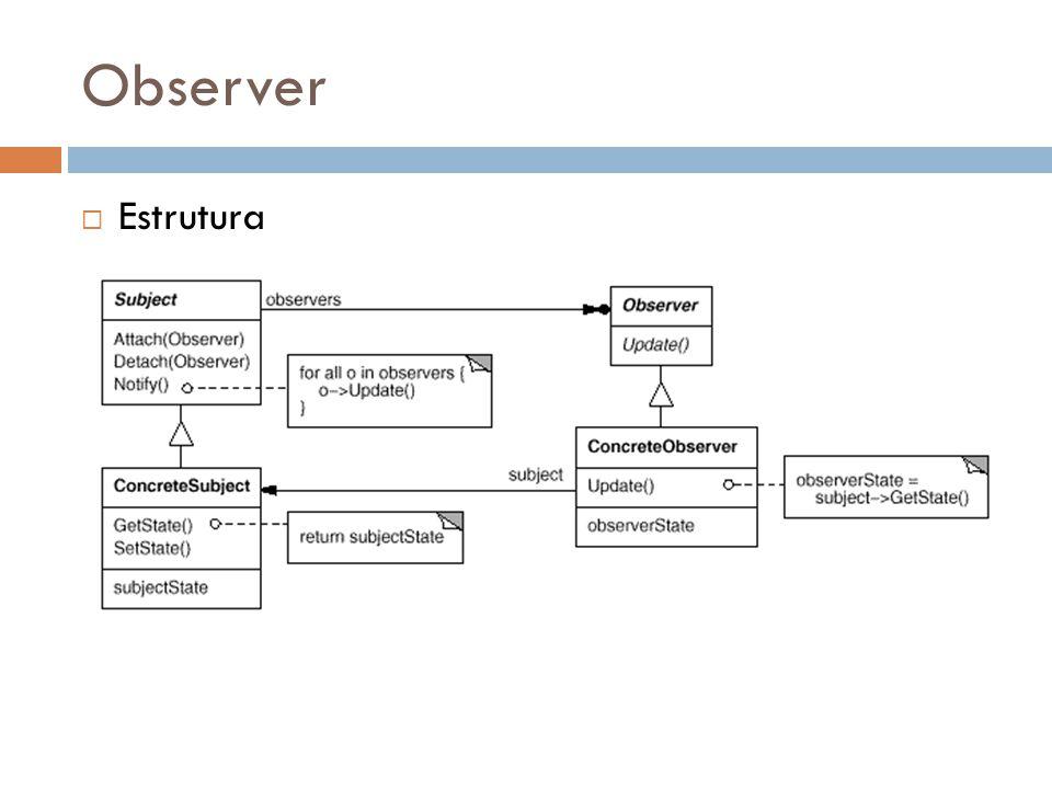 Observer Estrutura