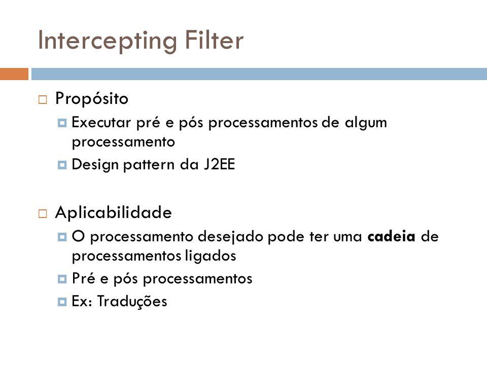 Intercepting Filter Propósito Aplicabilidade
