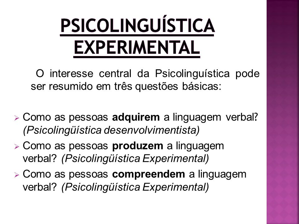 Psicolinguística Experimental