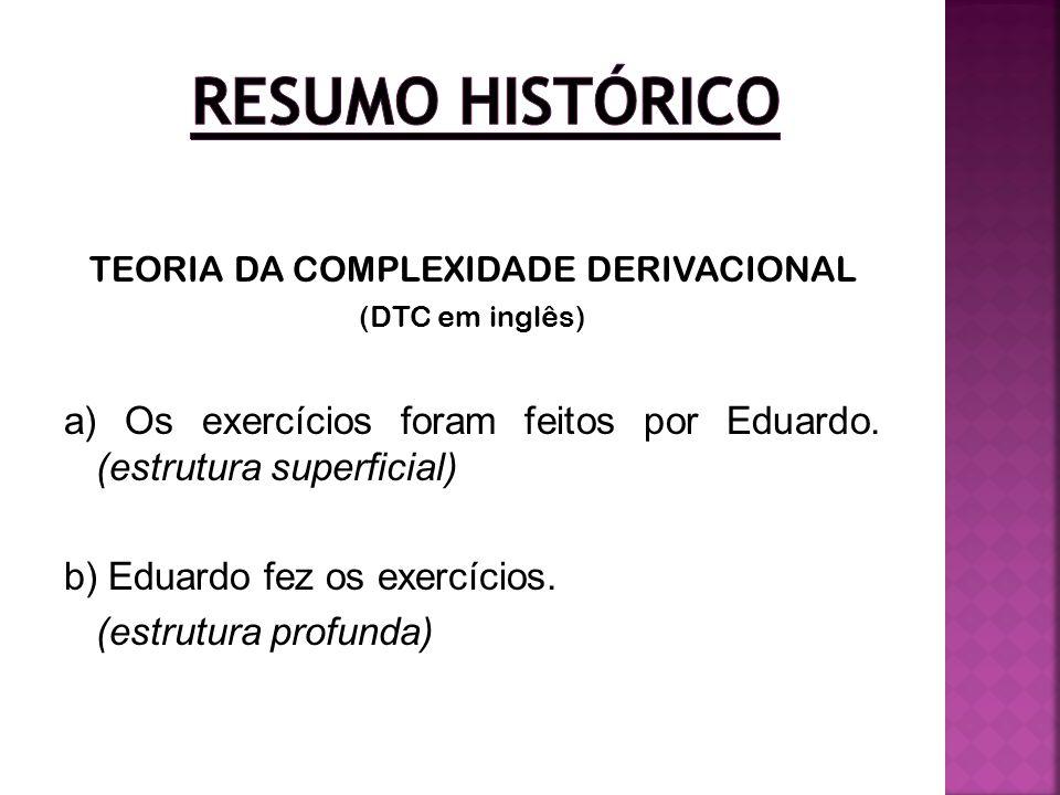 TEORIA DA COMPLEXIDADE DERIVACIONAL