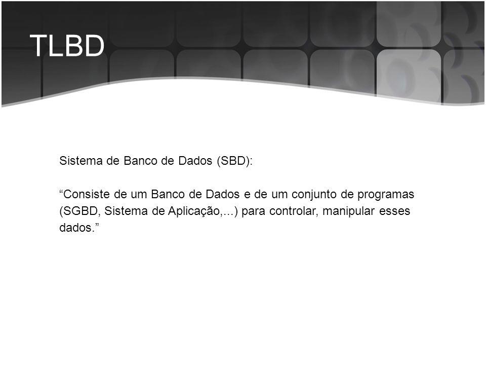 TLBD Sistema de Banco de Dados (SBD):
