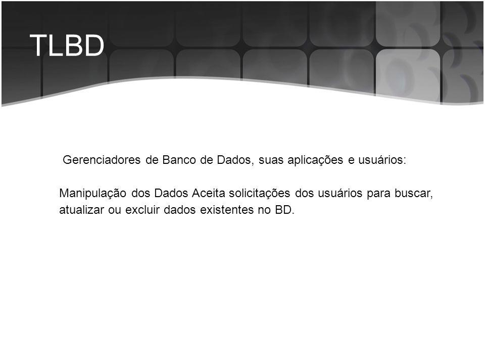 TLBD Gerenciadores de Banco de Dados, suas aplicações e usuários: