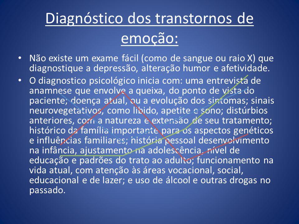 Diagnóstico dos transtornos de emoção: