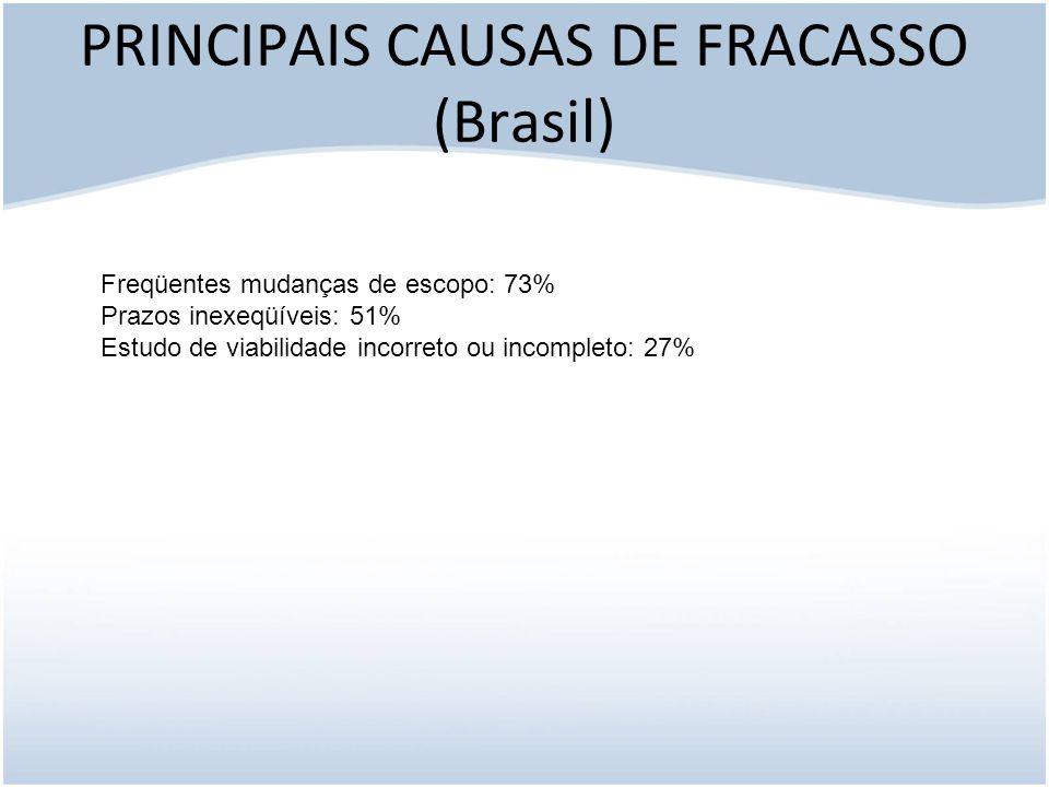 PRINCIPAIS CAUSAS DE FRACASSO (Brasil)