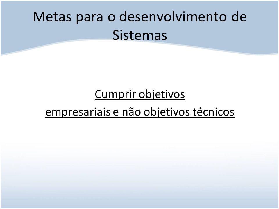 Metas para o desenvolvimento de Sistemas