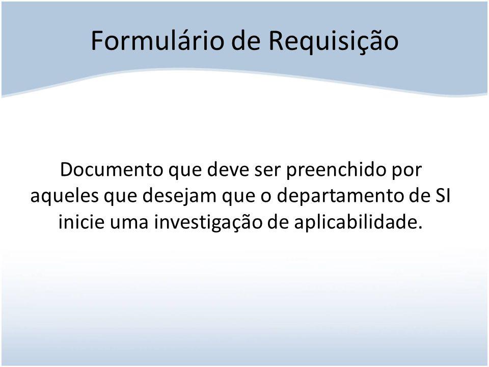 Formulário de Requisição