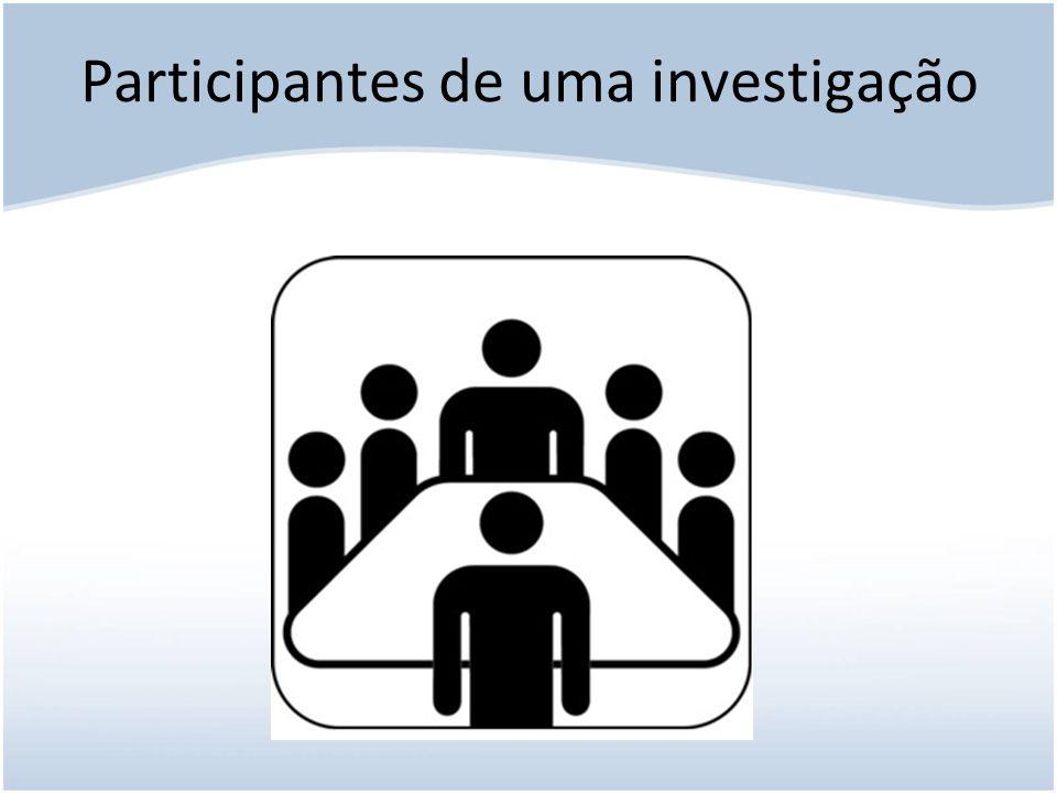 Participantes de uma investigação