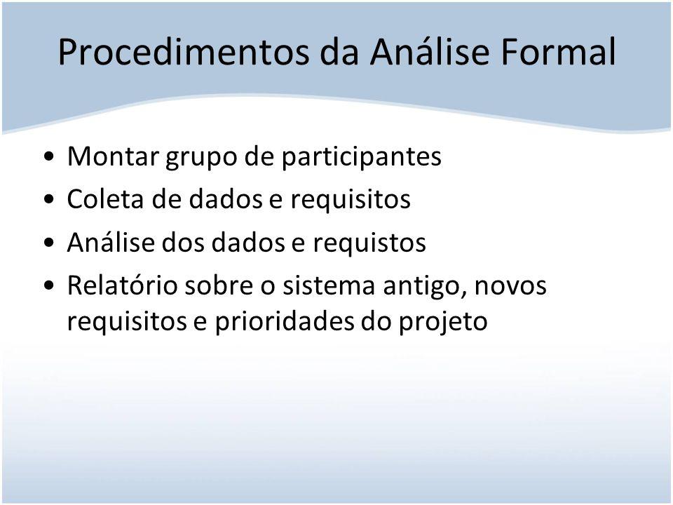 Procedimentos da Análise Formal