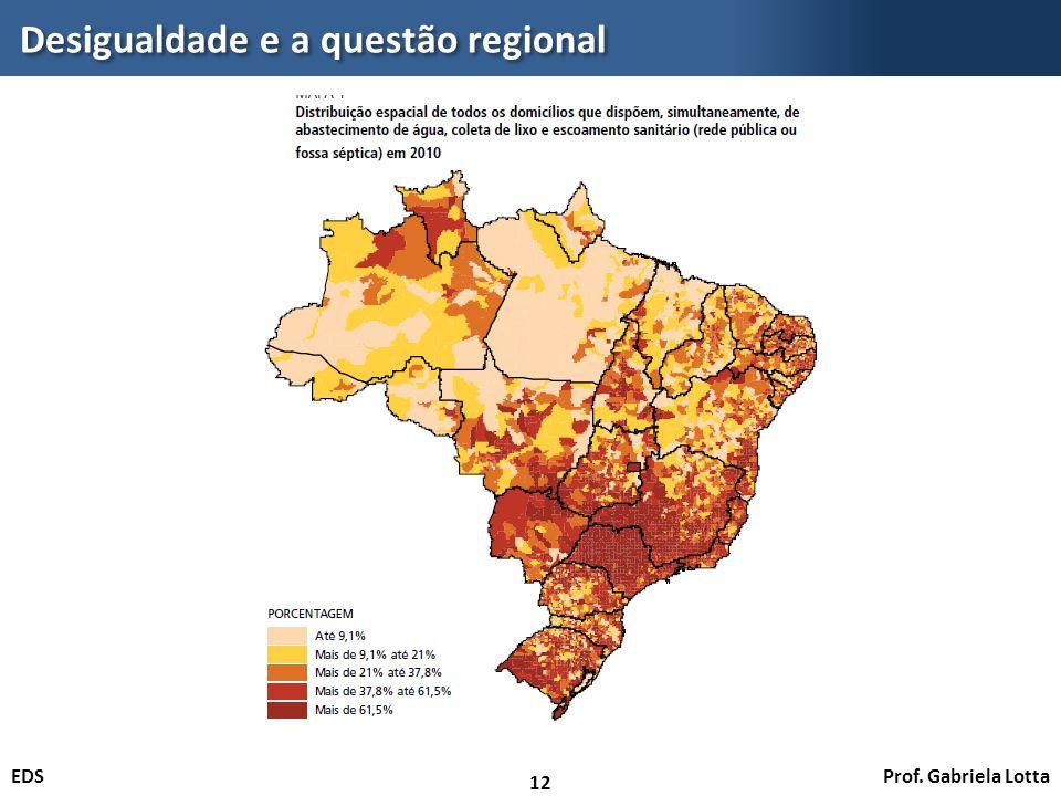 Desigualdade e a questão regional