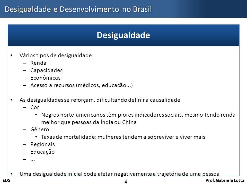Desigualdade e Desenvolvimento no Brasil