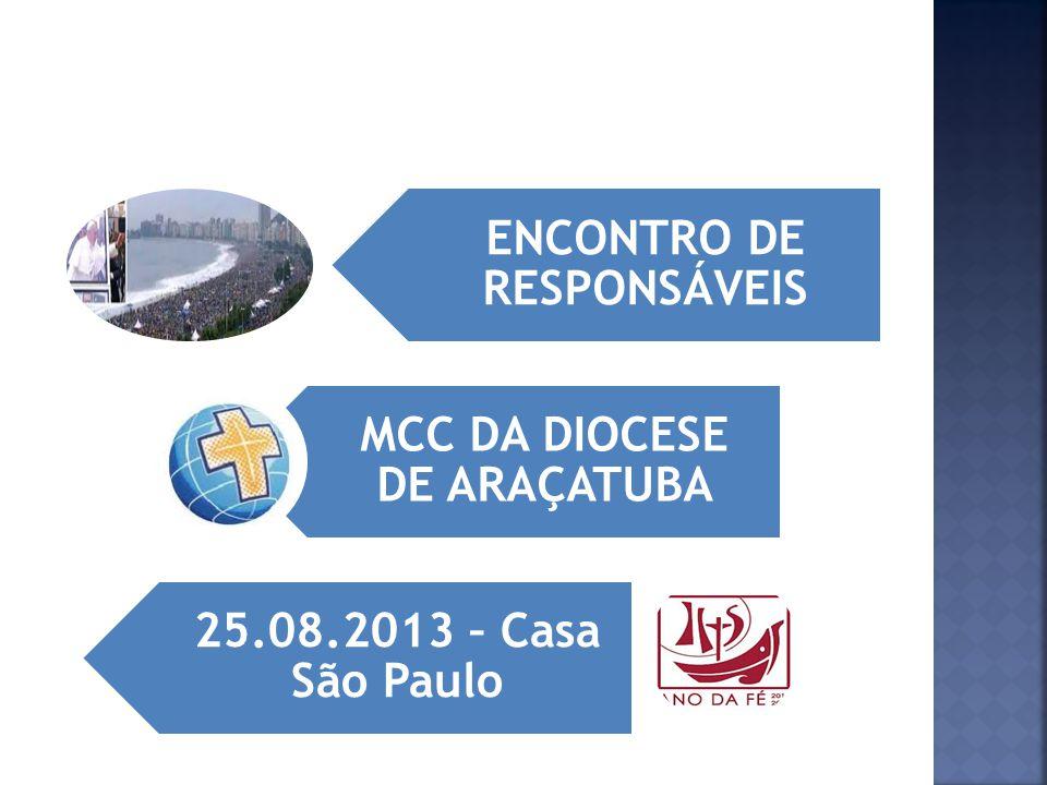 ENCONTRO DE RESPONSÁVEIS MCC DA DIOCESE DE ARAÇATUBA