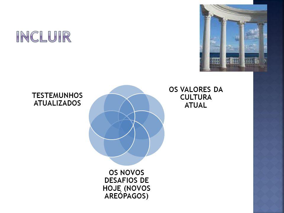 INCLUIR OS VALORES DA CULTURA ATUAL
