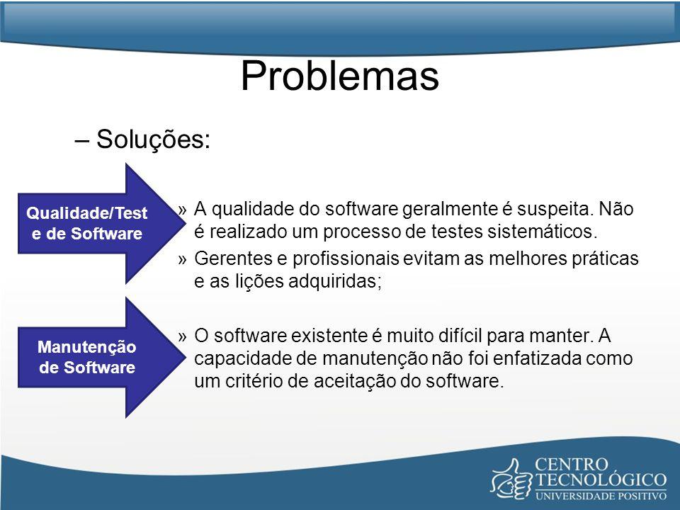 Qualidade/Teste de Software Manutenção de Software