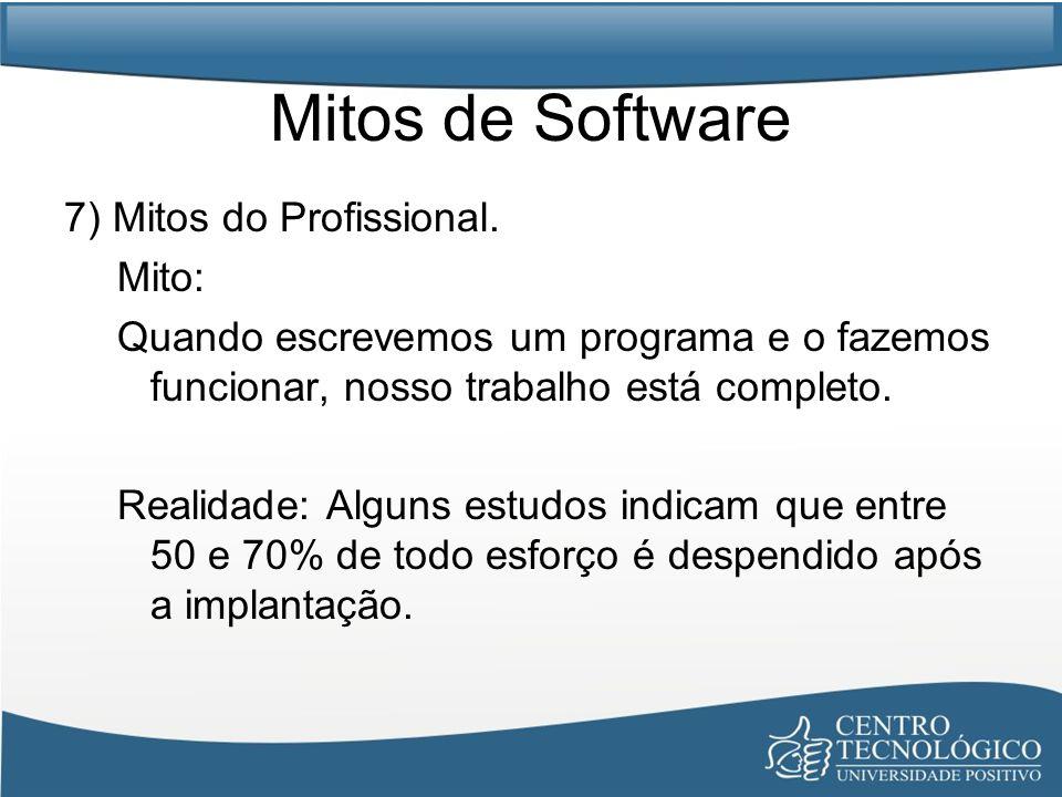 Mitos de Software 7) Mitos do Profissional. Mito: