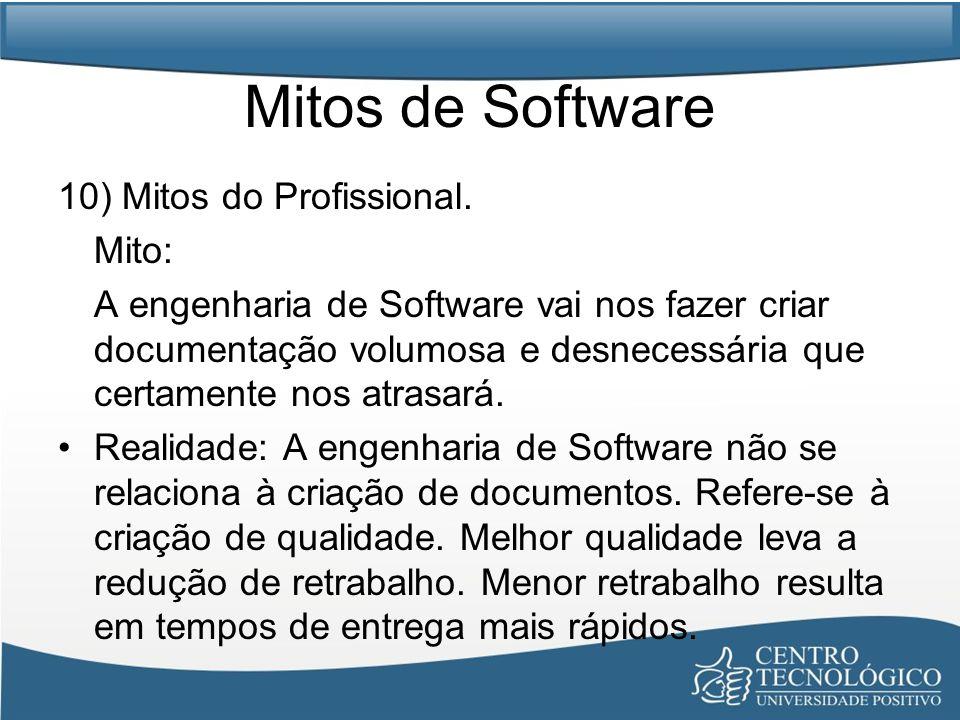 Mitos de Software 10) Mitos do Profissional. Mito: