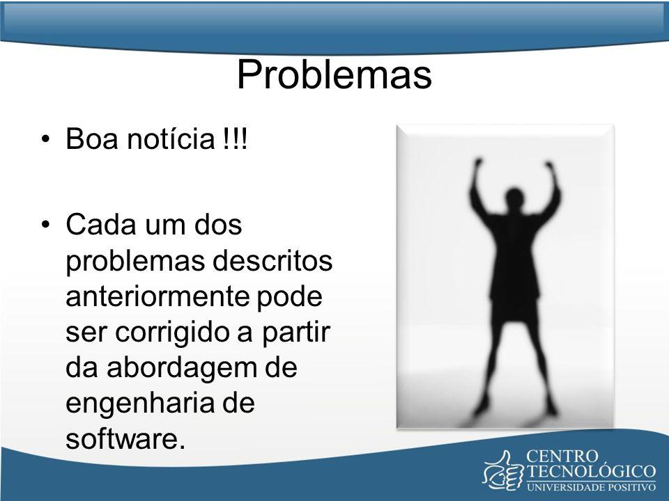 Problemas Boa notícia !!.