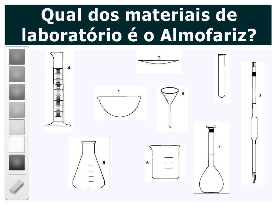 Qual dos materiais de laboratório é o Almofariz