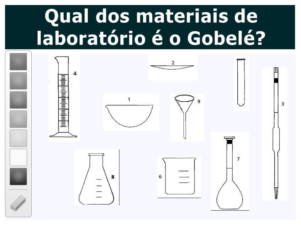 Qual dos materiais de laboratório é o Gobelé