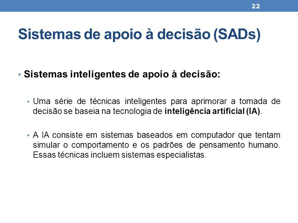 Sistemas de apoio à decisão (SADs)
