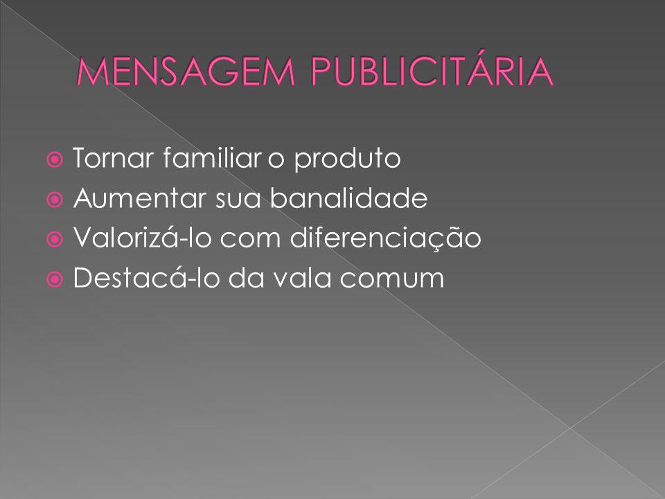 MENSAGEM PUBLICITÁRIA