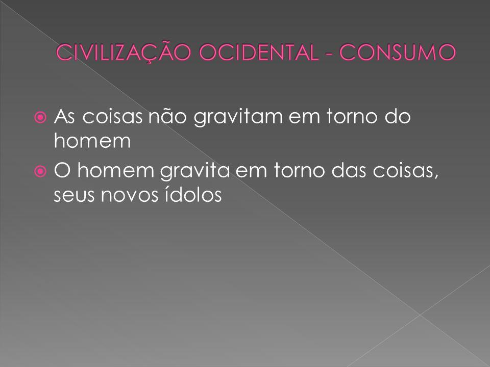 CIVILIZAÇÃO OCIDENTAL - CONSUMO