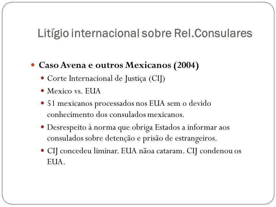 Litígio internacional sobre Rel.Consulares