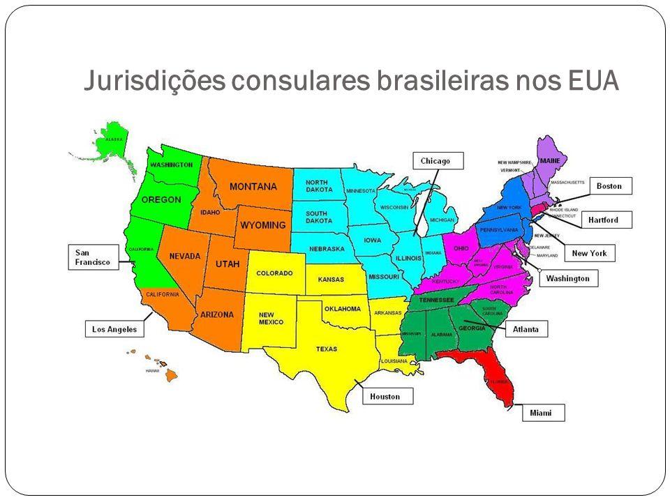 Jurisdições consulares brasileiras nos EUA