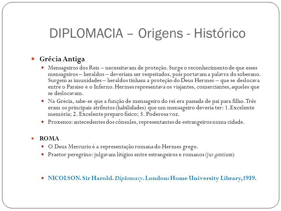 DIPLOMACIA – Origens - Histórico