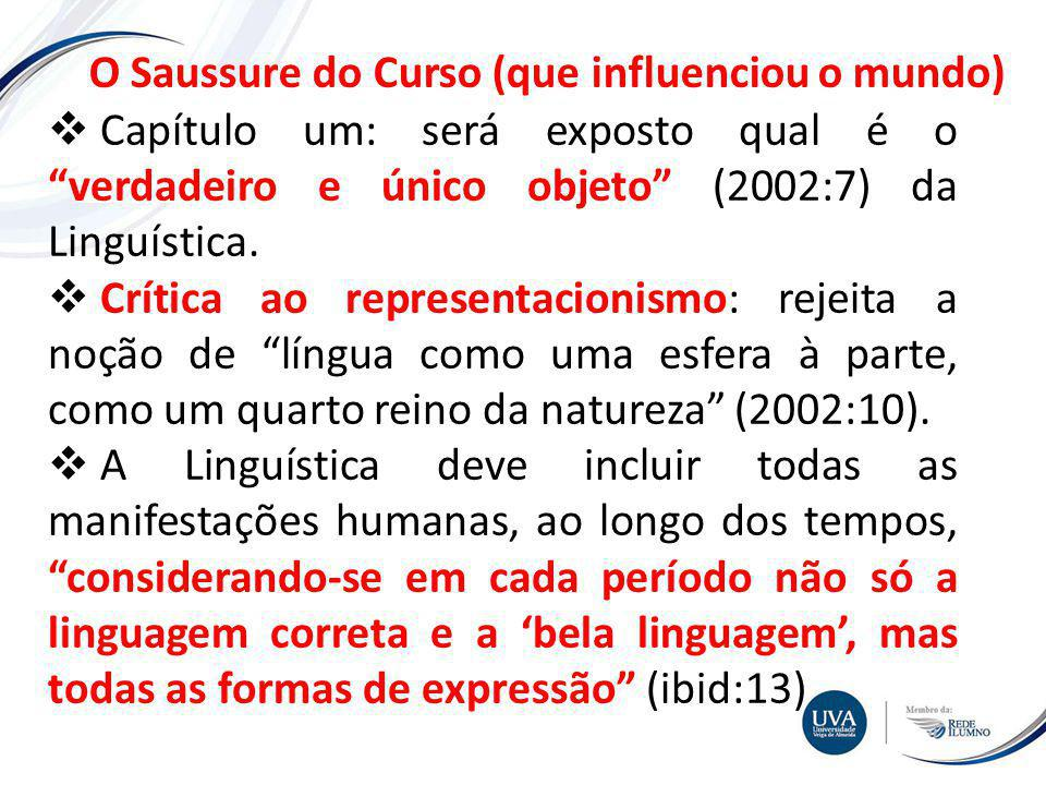 O Saussure do Curso (que influenciou o mundo)