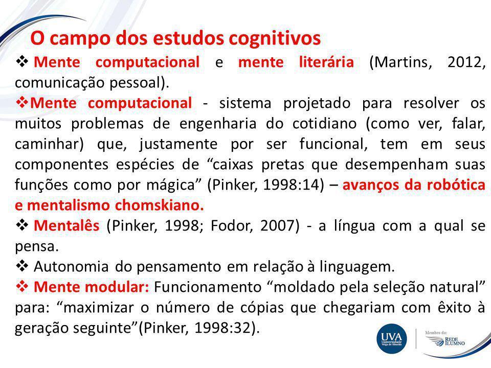 O campo dos estudos cognitivos