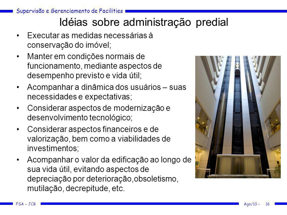 Idéias sobre administração predial