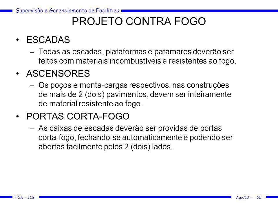 PROJETO CONTRA FOGO ESCADAS ASCENSORES PORTAS CORTA-FOGO