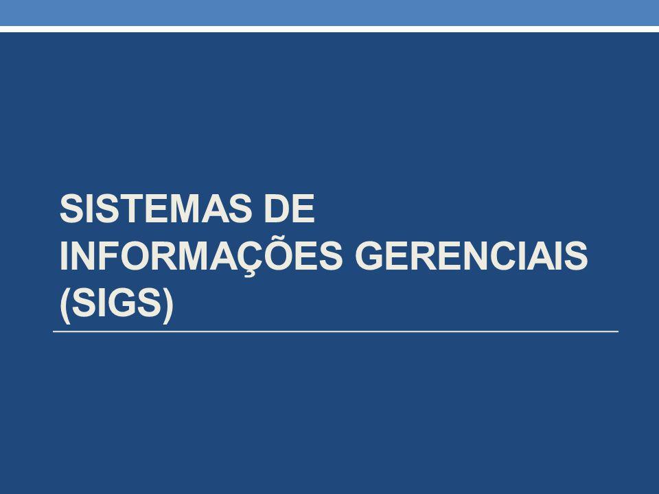 sistemas de informações gerenciais (SIGs)