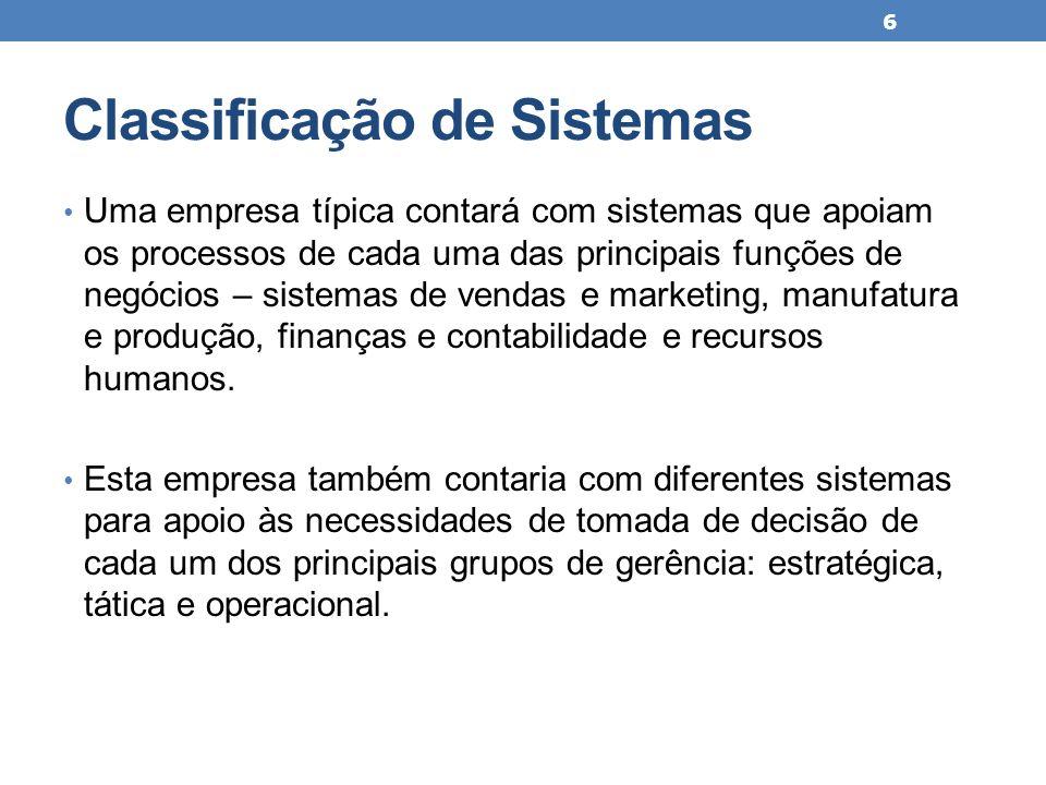 Classificação de Sistemas