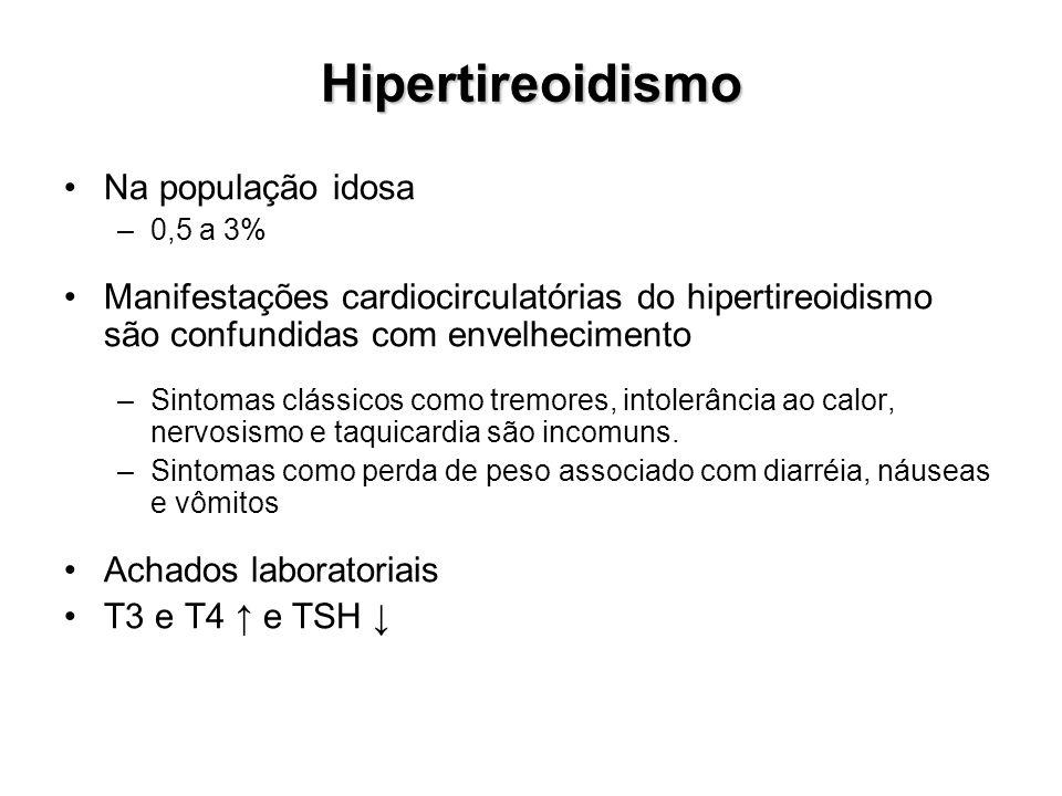 Hipertireoidismo Na população idosa