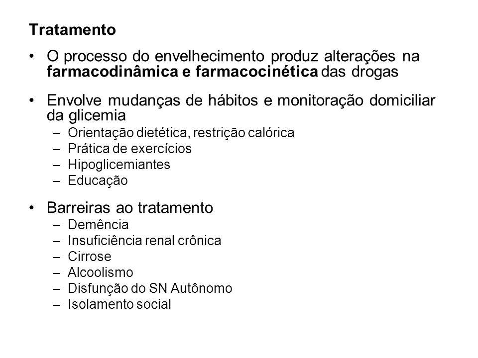 Envolve mudanças de hábitos e monitoração domiciliar da glicemia