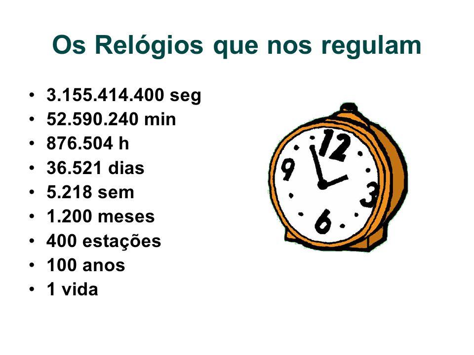 Os Relógios que nos regulam