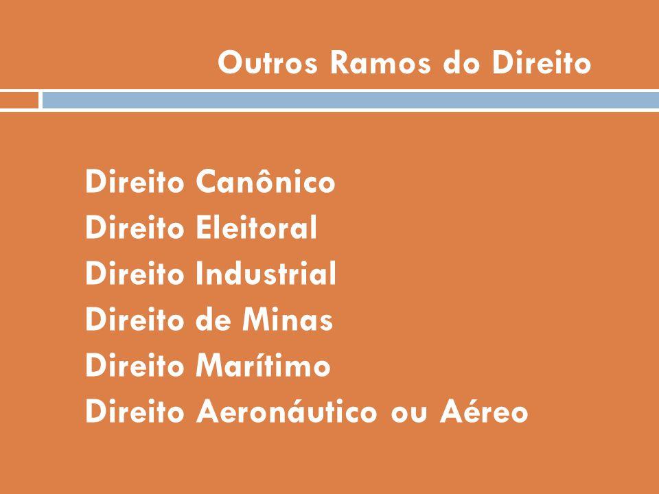 Outros Ramos do Direito
