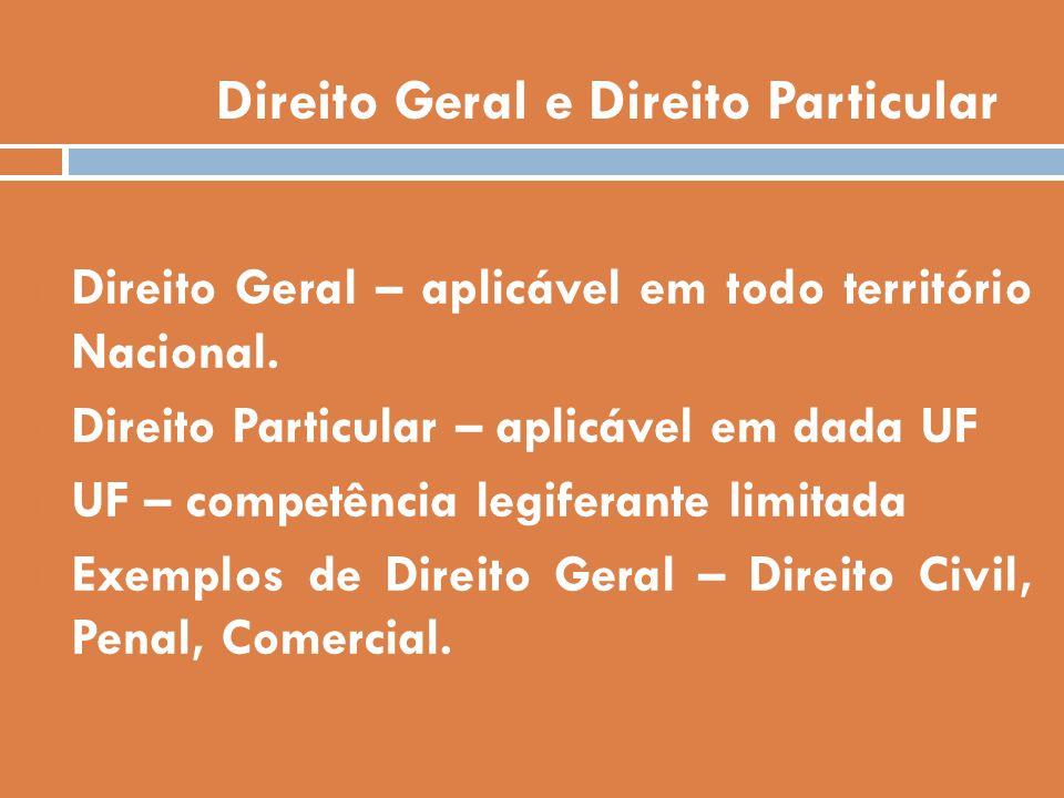 Direito Geral e Direito Particular