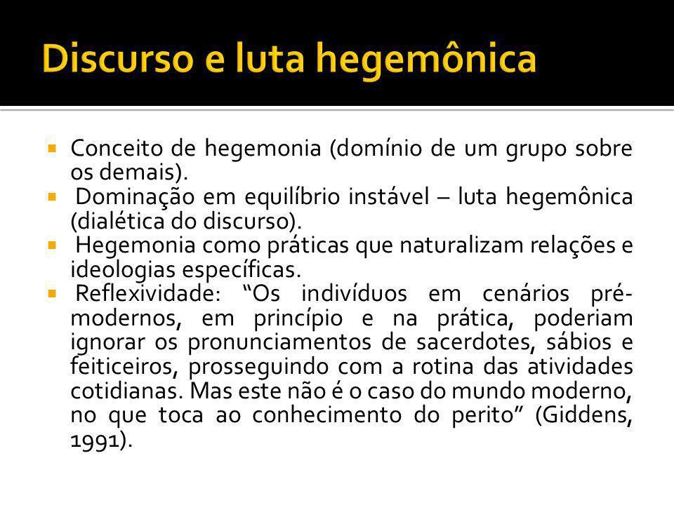 Discurso e luta hegemônica