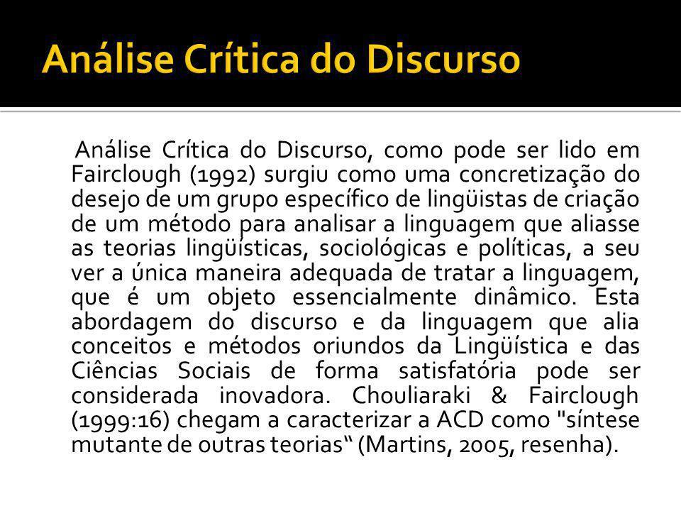 Análise Crítica do Discurso
