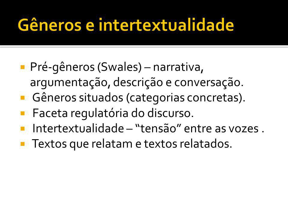 Gêneros e intertextualidade