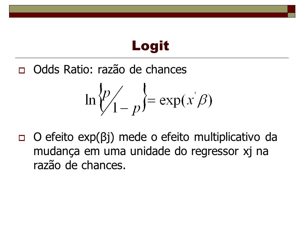 Logit Odds Ratio: razão de chances