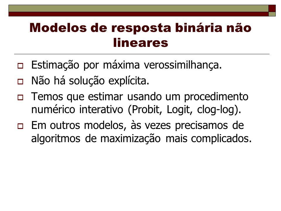 Modelos de resposta binária não lineares